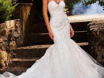 woman in a wedding dress - m ...................