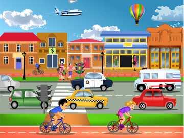 Stadt für die 3. Klasse - Puzzle der Stadt für die 3. Klasse