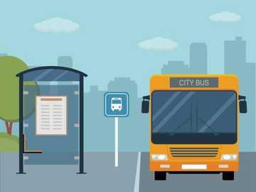 Parada de autobús para 3er grado - Puzzle de la parada de autobús