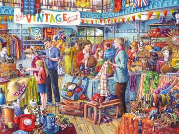 vintage shopping - family shopping and walk