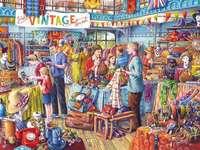 Vintage-Shopping - Familieneinkauf und Spaziergang