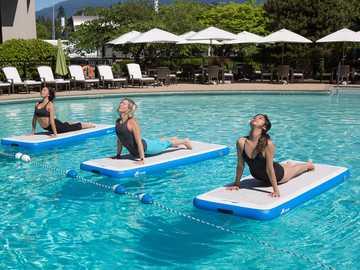 Yoga aquatique - Activité récréative, pratiquée dans les hôtels