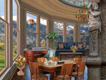 Декор - Всекидневна, декорирана във викториански стил