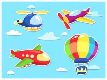 Medios de transporte aéreos. - Identificar algunos de los medios de transporte aéreos.