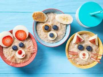 Desayuno Saludable - Animales nutritivos para niños