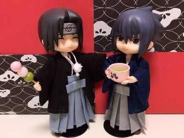 Itachi i Sasuke - Itachi i Sasuke w kimonie