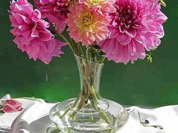 flowers in a glass vase - m .........................