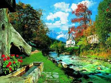 << In den Bergen >> - Landschaftspuzzle.