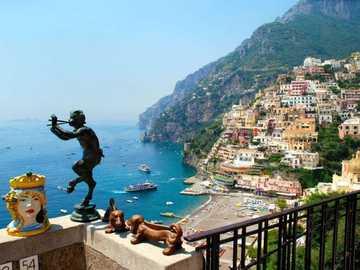 Италия - изглед от терасата към залива - м .........................