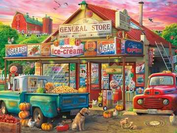 magazzino generale - negozio di shopping in città