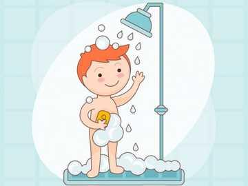fare il bagno jsgisdhjsdk - il bambino sta facendo il bagno