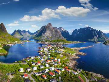 town in the fjords - m ........................