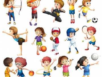 Journées sportives - enfants pratiquant divers sports