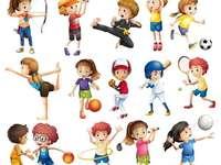 Dni sportu - dzieci uprawiające różne sporty