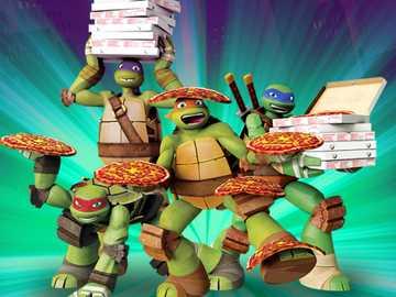fiesta de pizza 2 - Diviértete más comiendo más pizza mis tortugas