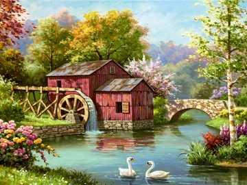 Mill Lake Swan Bridge - Mill Lake Swan Bridge
