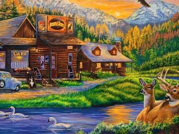 Ein Café umgeben von Tieren und Natur - Ein Café umgeben von Tieren und Natur