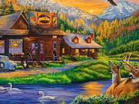 Kavárna obklopená zvířaty a přírodou - Kavárna obklopená zvířaty a přírodou