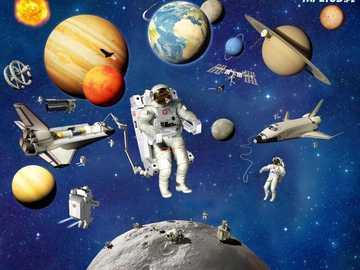 space, cosmonauts, planets - m .....................