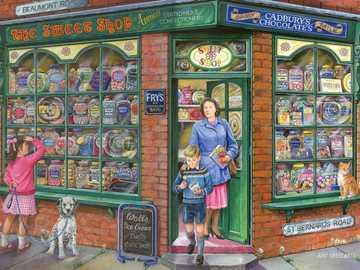 Corner Shop - Puzzle. Village store