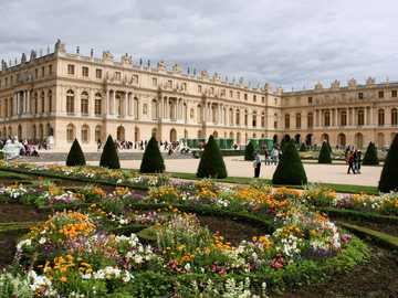 Cultural place in France - Palace of Versailles in France, a world heritage site.
