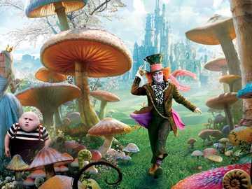 Alicia karaktärer - Täckpersoner av filmen Alice in Wonderland.