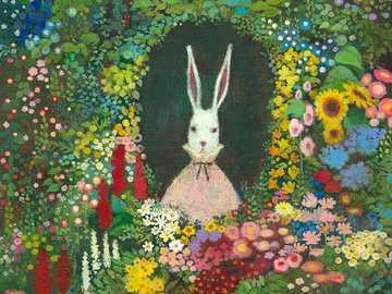 Zajíček v záplavě květin - Zajíček v záplavě květin