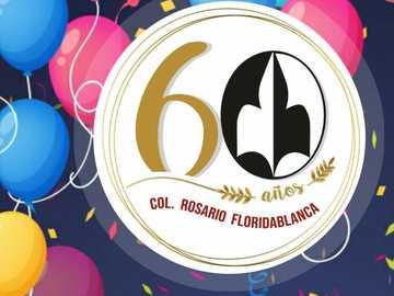 firar 60 år - 60 år gammal skola för vår dam av floridablancas radband