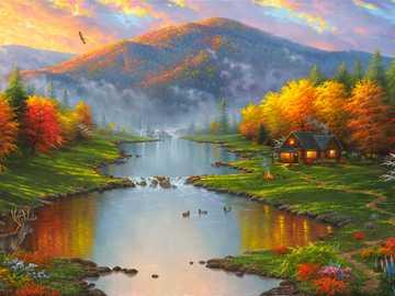 Colorful autumn landscape - Colorful autumn landscape