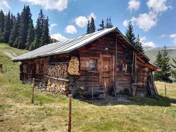 Alpine hut in Switzerland - Alpine hut in Switzerland