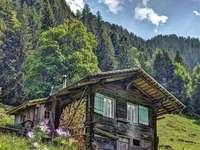 Cabana alpina na Suíça - Cabana alpina na Suíça