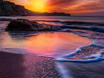 Magnifique coucher de soleil au bord de la mer - Magnifique coucher de soleil au bord de la mer