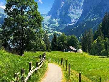 Chemin dans un beau paysage - Chemin dans un beau paysage