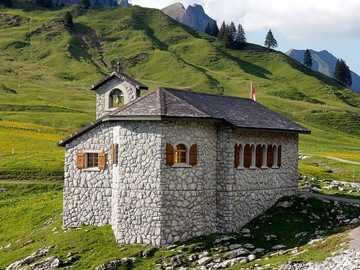 Chapel in the mountains on a pass - Chapel in the mountains on a pass