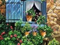 Dipingere la facciata della casa con fiori e piante - Dipingere la facciata della casa con fiori e piante