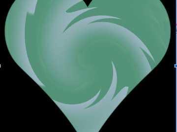 zielone serce z akwarelami - zielone akwarele serca