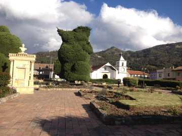 Tópaga Boyacá - The puzzle is of a majestic image, since it is of the beautiful town that is located in the country