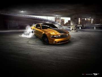 Ford Mustang von Gerson Lopez - Nehmen Sie die große Herausforderung an, die Teile in 5 Minuten zu einem Bild zusammenzufügen.