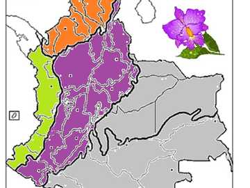REGIONER I COLOMBIA - Karta över regionerna i Colombia