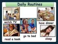 Процедури - Después de armar el rompecabezas elabora oraciones en inglés con las rutinas diarias