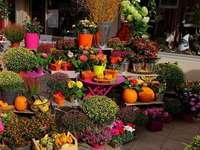 Магазин за цветя с есенна декорация - Магазин за цветя с есенна декорация