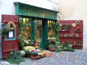 Florería en Praga - Bonita floristería en Praga