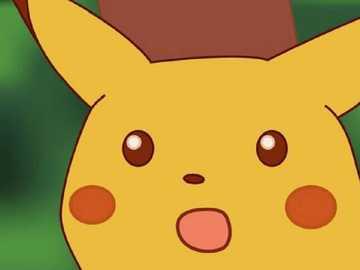 Pikachu surprins - Distracție garantată cu cel mai popular Pokemon: pikachu.