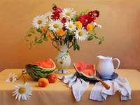 Virágok egy vázában