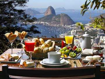 meal on the terrace with a beautiful view - m .......................