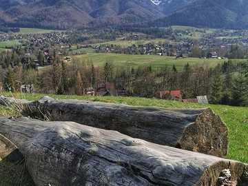 Blick auf die Tatra. - Landschaftspuzzle.
