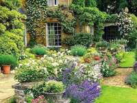 Cabaña inglesa con jardín