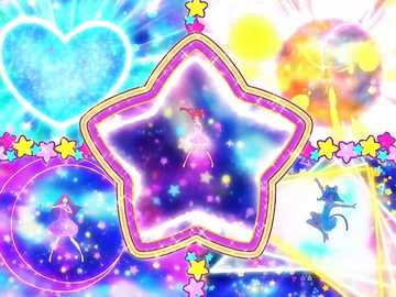 Star Color Pendant!Color Charge! - 第十六部星光閃亮☆光之美少女,星彩吊墜的頂部彈出,插入變身星彩筆,�