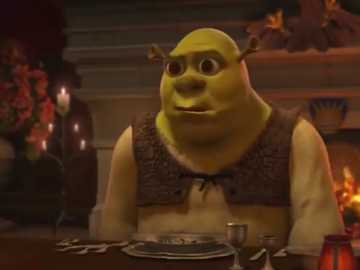 Dinner at Harold's - Shrek 2 - When you don't get a compote:
