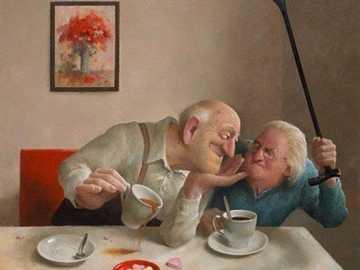 Dědku dostaneš holí, vylil jsi kafe - Dědku dostaneš holí, vylil jsi kafe